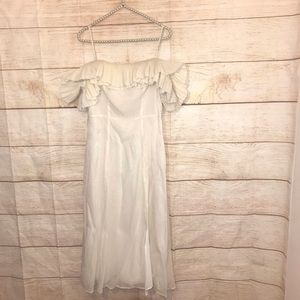 Anthropologie and other stories size 8 white dress